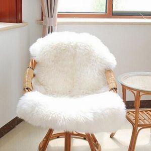 Nachahmung Wolle Teppiche Flauschig Weiche Schaffell Bettvorleger Matte