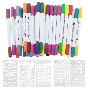 36 Dual Marker Pens Watercolor Pinselstifte mit Fineliner und Pinsel
