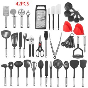 Kitchen Cooking Tools Küchenhelfer Utensilien Kochgeschirr Kit 42pcs