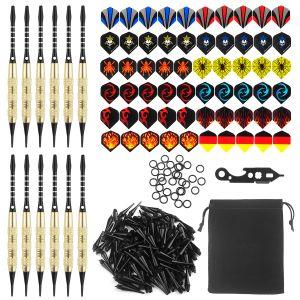 12 Stück Profi Softdarts Set für elektronische Dartscheibe