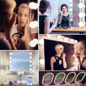 LED Spiegelleuchte Schminkleuchte Spiegellampe 10 LED Hollywood Stil