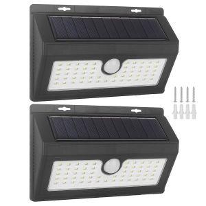 Solarlampen Wandleuchte Solarbetriebene 2er Solarlicht Lichter