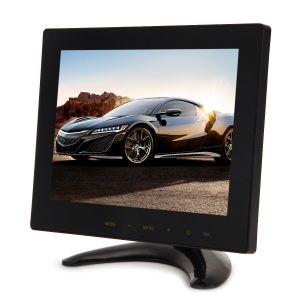 LCD Monitor IPS-Bildschirm Display 8 Zoll, LCD HD Bildschirm Monitor tragbar mit VGA HDMI Audio Ports für CCTV Kamera