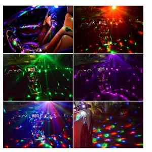 2er Set LED Discokugel Discolampe Partyleuchte Musikgesteuert Disco Lichteffekte 9W LED Party Lampe, Partylicht RGB 360° Drehbar mit Fernbedienung