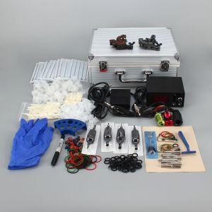 Tattoomaschine Tätowierungen Set 2 Guns mit LCD f. Anfänger mit Koffer