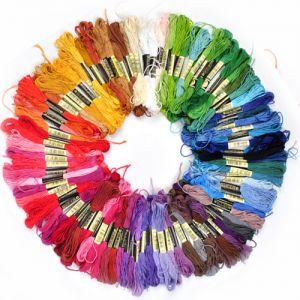Stickgarn Embroidery Threads Nähgarne Stickerei Basteln Crafts 100pcs
