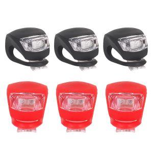 Fahrradlicht LED Frontlichter Fahrrad Lampe Rücklicht für Fahrrad 6pcs