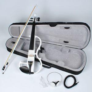 E-Violine E-Geige Silentgeige Brazilwood Kabel mit Bogen und Koffer