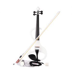 E-Violine Elektrische Geige Violine Set mit Bogen Hard Case Kopfhörer