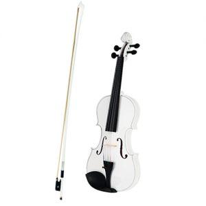 Violine Geige Massivholz mit Bogen Geigenharz Geigenkoffer 4/4