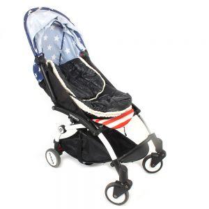 Babyfusssack Schlafsack Kinderwagensack Schlaftasche Winddicht 70×42cm