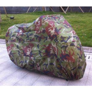 Motorradabdeckung Motorradgarage Camouflage Abdeckplane Schutzhülle XXL