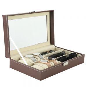Uhrenbox Brillenbox Brillenetui Kasten Organizer mit Schaufenster