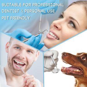 Mundspiegel Zahnsteinentferner Zahnreinigung Zahnpflege Set 2pcs