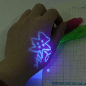 Geheimstifte Magische Stift Schattenfreie Pen UV Licht Unsichtbar 7pcs