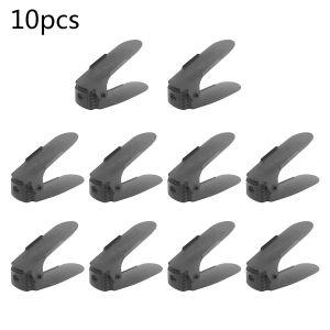 Schuhregale Schuhstapler Schuhhalter Set Kunststoff einstellbar 10pcs