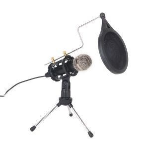 Kondensator Mikrofon Standmikrofon Aufnahmemikrofon Stativ für Studio