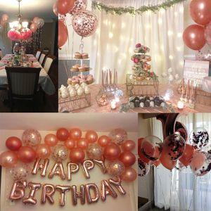 Ballon Konfetti Latex Luftballons Ballons f. Hochzeit Geburtstag 30pcs