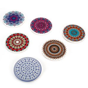 Untersetzer 6er Dekorative Getränkeuntersetzer für Glas Mandala Set