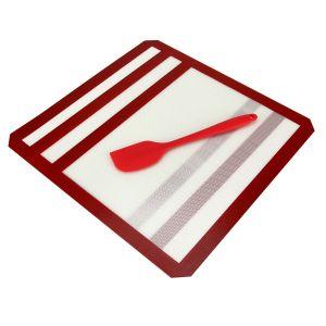 2pcs Dauerbackfolie Backpapier Wiederverwendbar Silikonmatte Silikon