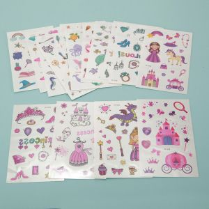 Meerjungfrau Party Temporäre Tattoos Kinder Aufkleber Sticker 16er Set