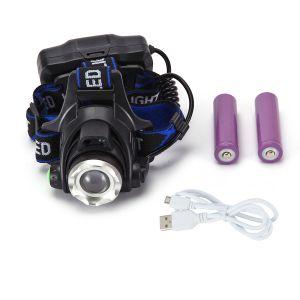 Stirnlampe LED USB Wiederaufladbare Stirnlampe Kopflampe für Laufen