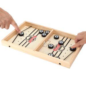 Brettspiel Hockey Fast Sling Puck-Spiel Tisch Hockey Brettspiel Set