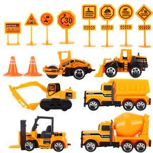 16pcs Spielzeugautos Lastwagen LKW Baufahrzeuge Fahrzeuge Spielzeug Set