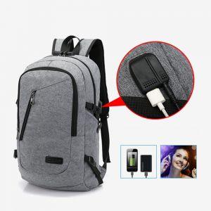 Laptop Rucksack Herren Rucksack Damen Anti-Diebstahl Rucksack für Laptop Schulrucksack Multifunktion Business Notebook Tasche mit USB Ladeanschluss für Arbeit Reisen