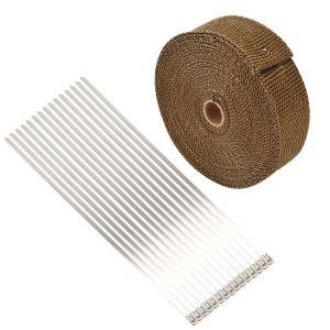 15M Hitzeschutzband Krümmerband mit Kabelbinder für Fächerkrümmer