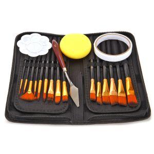 15er Acrylpinsel Pinselset Malpinsel Künstlerpinsel für Acrylfarbe
