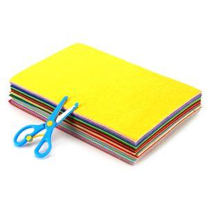 Filzstoff 40pcs Bastelfilz Farbig Filz Blätter 20x30cm Polyester Felt Fabric Filzplatten zum DIY Handwerk Projekte Nähen Patchwork Manual Decoration