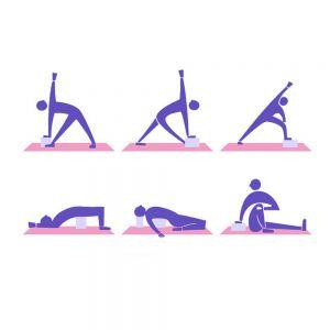 2er Yoga Block Steine Übungssteine mit Gurt Yoga Steine Block Set Yogakork Klotz Korkblock für Yoga Pilates