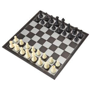 3 in 1 Schachspiel Schachbrett Schach Magnetisch Schachspiel Backgammon Klein klappbar