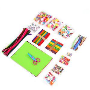 1000pcs Bastelset für Handwerk Dekorationen Kinder, Bastelset Bastelmaterial f. DIY Kunsthandwerk