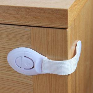 Kindersicherung für Schrank und Schubladen 20 Stück, Selbstklebende Baby Schubladensicherung für Tür Schränke Kühlschrank und Schubladen mit Starker Kleber ohne Bohren