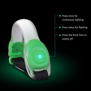 Armband LED Leuchtband Reflektor Reflective Armbänder f. Laufen 2Stück