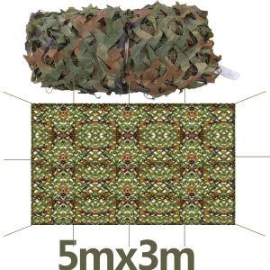 Tarnnetz Camouflage Netz Tarnung Sichtschutz Sonnenschutz f. Jagd 5X3m