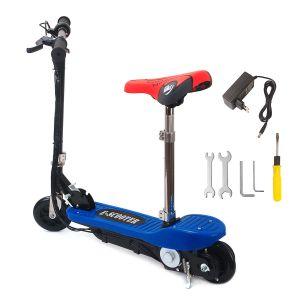 Elektro Scooter Roller E-Scooter Cityroller Bremsen mit Sattel 100W