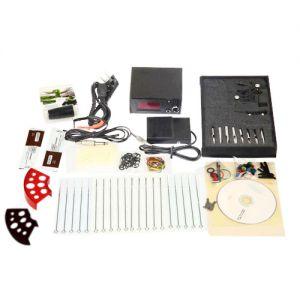 Tätowierung Set Komplett Tattoomaschine Netzteil Koffer Nadeln 10Wrap