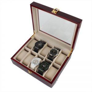 Uhrenbox Uhrenkoffer Uhrenkasten Uhrenaufbewahrung Holz für 10 Uhren