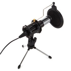 USB PC Podcast Mikrofon PC Mikrofon Lärmminderung, USB Kondensator Mikrofon Aufnahme Kondensator Mikrofon Kit mit Tischständer