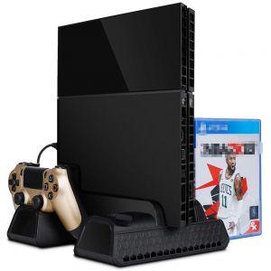 PS4 Ladestation Ständer Vertikal Standfuss Kühlungs-Standplatz