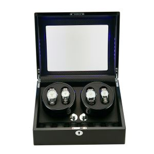 Uhrenbeweger Watch Winder LED Uhrendreher für 4+6 Uhr Uhrenbox Uhrenbeweger Uhren Aufbewahrung