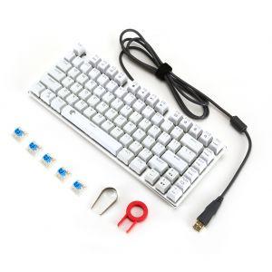 Mini Mechanische Tastatur LED Beleuchtet 81 Tasten Anti-Ghosting
