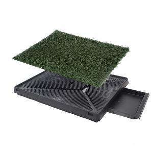 Hundetoilette Welpentoilette Matte Innenraum Gras für Hunde Tier